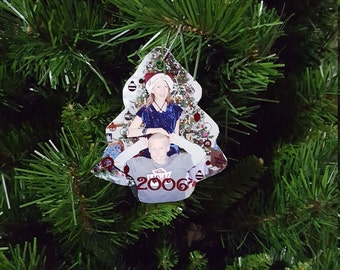 Christmas Tree Photo Wooden Ornament