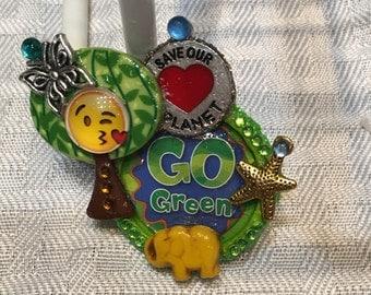 Earthday Pin, Earthday Emoji Pin, Save Our Planet, Earthday Is Everyday, Earthday Keepsake