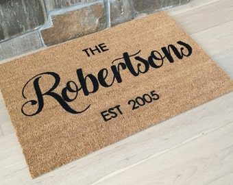 Personalized Wedding Gift - Doormat with Couple's Name and Date