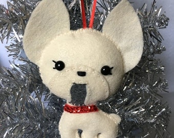 Felt French Bulldog Ornamanet