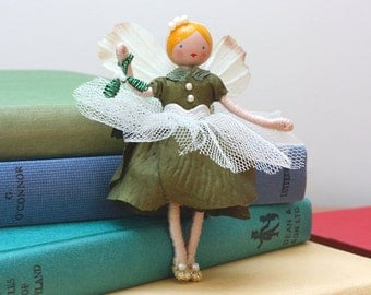 Mistletoe Fairy Art Doll