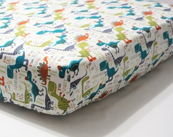 Dinosaur Baby Bedding boy Crib Sheet Dinosaur nursery toddler boy bedding Gender neutral nursery Modern nursery Dinosaur sheet