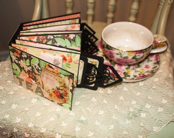 Mini Paper Bag Album- Graphic 45 Time to Celebrate -Tea Book