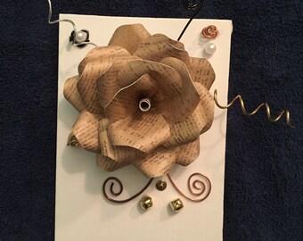 Script Modern Paper Flower (Customizable)