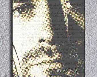 Kurt Cobain Smells Like Teen Spirit Lyrics Framed Print
