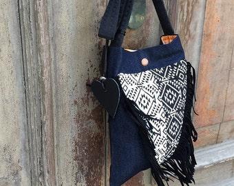 Gypsy sling bag / festival bag / bohemian shoulder bag / cross body boho bag / Boho festival bag / boho sling bag / festival sling bag
