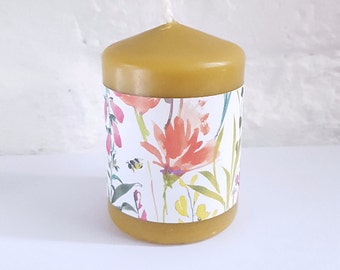Beeswax candle,pillar candle,bathroom candle,house warming gift,Natural Scent,Purifying Candle ,Hygge,mother's day gift,gift for mum