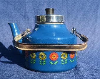 Blue vintage Kettle enamel