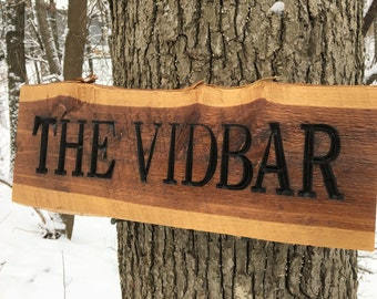 Custom Engraved Redwood Sign, Family Name Wood Sign, Custom Carved Sign, Personalized Wooden Sign, Housewarming Gift, Engraved Wood Sign