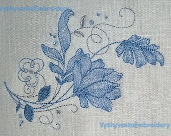 Machine embroidery design Floral Machine Embroidery Flowers File Download Machine embroidery design Instant Download