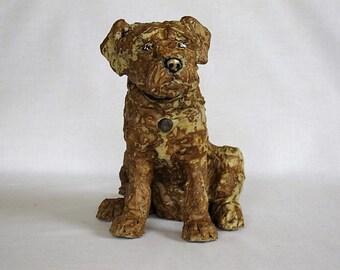 Border Terrier/Unique Ceramic dog sculpture