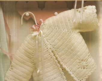 Vintage Snowflake Baby Set Crochet Pattern