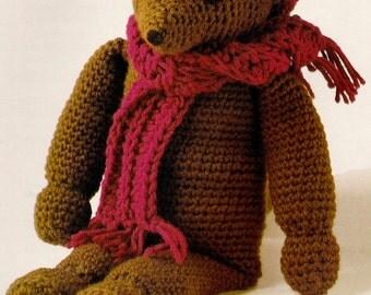 Vintage Brown Teddy Bear Crochet Pattern