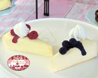 CHEESECAKE LOVER WoolFelt CHEESECAKE Set - Pretend Play Kitchen Decor Bakery Foods Felt Food Birthday Gift