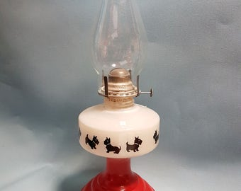 Vintage Scottie Dog Lamp with Shade by Correct