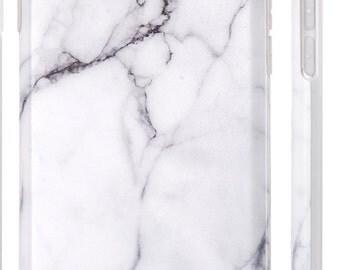 Marble.iPhone 7 case.iPhone 7 Plus case.iPhone 6s case.iPhone 6s Plus case.iPhone 6 case.iPhone 6 Plus.Soft case.White Marble iPhone case