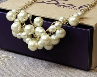 Pearl Cluster Necklace Kit/ create this stunning bracelet as a gift hand made with love by you or make for yourself available in two colours