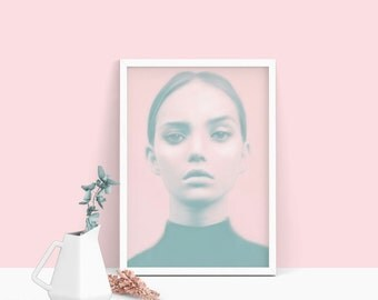 Pastel wall art, fashion print, female gifts, pastel pink, prints, free shipping, wall art, art prints