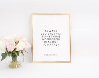 Coco Chanel Quotes Coco Chanel Decor Fashion Print Fashion Wall Art Fashion Art Women Gift Inspirational Print Printable Art Quotes For Wall