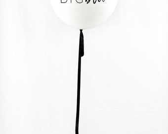 Modern | Big Brother Balloon | Pregnancy Announcement | Photo Prop | White