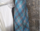 Winter Argyle Crochet Scarf with Fringe