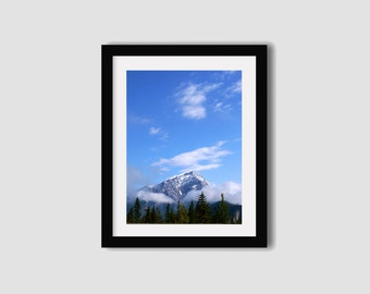 Banff Photography print // Canada photography // Mountain print // Rocky Mountains // Travel photography // Wall art // Wall decor