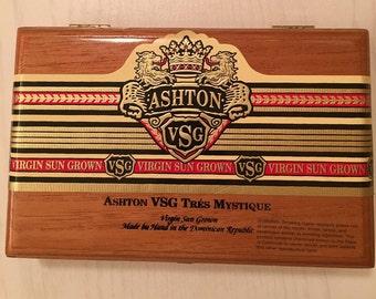 Ashton Wood Cigar Box - Ashton VSG Tres Mystique
