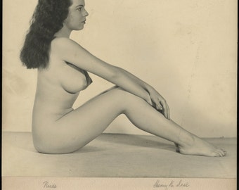 VINTAGE ART PHOTOGRAPH, Silver Gelatin Print, 1940, signed by photographer Henry Kendall Seal