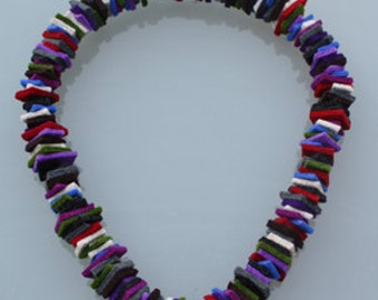 """Felted necklace """"do it yourself"""""""