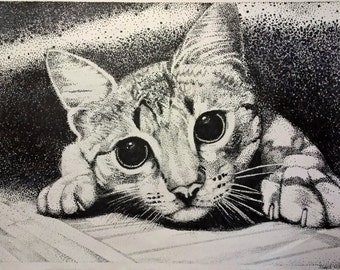 Stipple Cat