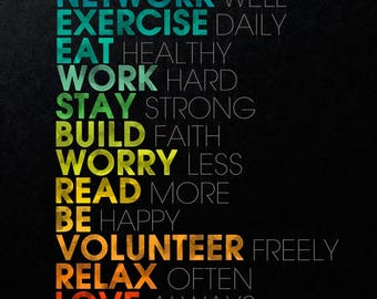 Motivational quotes, motivational print, motivational poster, motivational wall decor, motivational art, inspirational quotes (JS1397)