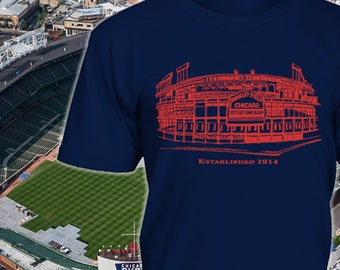 Wrigley Field Shirt - Wrigley Field Aerial View Hoodie - Cubs Gift for fans - Funny Birthday Gift for Cubs Fan - Sizes up to 5XL!