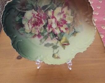 Beautiful Fuschia Rose plate made in Bavaria