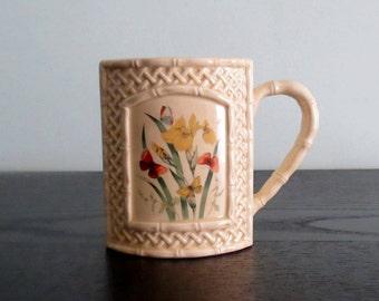 Enesco Butterfly Garden Trellis Coffee Cup Mug  Vintage Mug Made in Japan