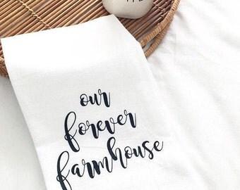 Farmhouse Tea towel. Kitchen Towel. Farmhouse Kitchen. Flour Sack Towel