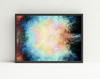 Colorful Abstract Wall Art - Nebula Abstract Wall Art - Printable Wall Art - Digital Art Download - Printable Wall Decor - DIY Home Decor