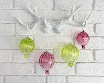 Pink Hand Blown Glass Ornament