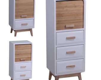 Marbela drawer unit with sliding door