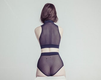 Sexy Lingerie, See Through Panties, Vintage Lingerie, Transparent Panties, Mesh Lingerie, Sheer Underwear, Women Culotte, Women Panties