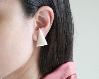 Shell Triangle Earrings