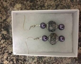 Purple Beauty Earrings
