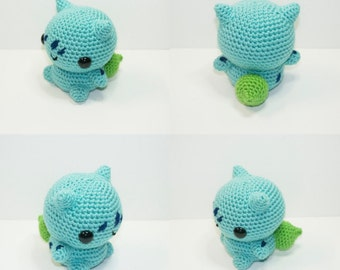 Crochet Bulbasau, Bulbasaur, Pokemon, Crochet Bulbasaur Pokemon, Crochet Pokemon, Handmade,