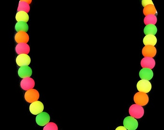 Neon Multi Color Pearl Necklace - Summer Time Jewelry - Trendy Summer Jewelry - Neon Jewelry - Neon Jewellery - Neon Necklace - Neon Rainbow