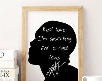"""Frank Ocean """"Real Love"""" Art Print"""