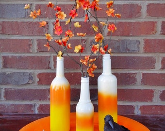 Candy Corn Ombre Bottles - Set #3