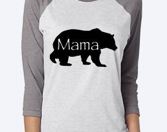 Mama bear raglan etsy mama bear shirt mama bear raglan shirt womens mama bear baseball shirt mothers publicscrutiny Image collections