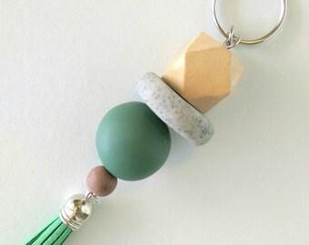 key chain, key ring, lanyard, key tag, handmade key chain, polymer clay key chain