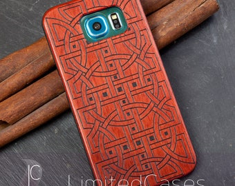 "Case for Samsung Galaxy S6 with rosewood Edition, laser-engraved ""Relations"""