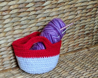 Small Handmade Crochet Basket