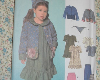 Simplicity 9417 Childs Dress or Top Skirt Pants Jacket and Scarf Sewing Pattern - UNCUT  - Size 3 4 5 6 7 8